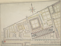 [Plan of the Grey Friars Precinct, Newgate Street]